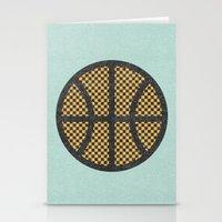 Op Art Basketball. Stationery Cards