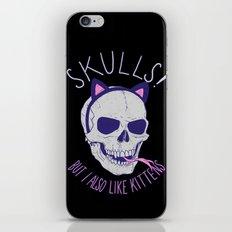 Skulls and Kittens iPhone & iPod Skin