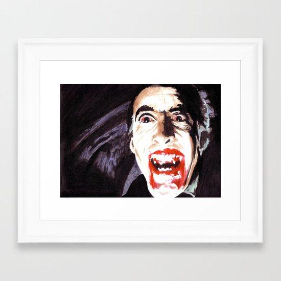 The Horror of Dracula Framed Art Print