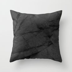 Dark Grey Marble Throw Pillow