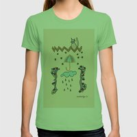 Watching Over Us Womens Fitted Tee Grass SMALL