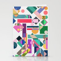 Geometry 2 colorful Stationery Cards