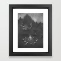 Familiar Fire Framed Art Print