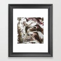 Color Commentary #11: S'mores & Jam (Brown & Silver) [Becky Tinner] Framed Art Print
