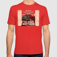 The Great Northern Hotel… Mens Fitted Tee Red SMALL