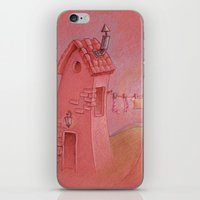 Houses in the sunset iPhone & iPod Skin