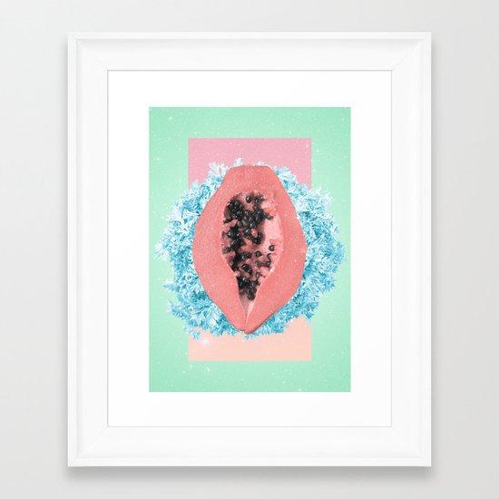 Papaya Rocks Framed Art Print