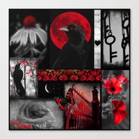 Gothic Red Canvas Print
