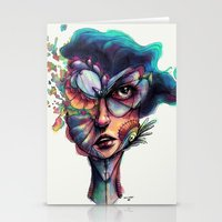 Searching Deep Blue Stationery Cards