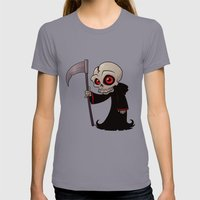 Little Reaper Womens Fitted Tee Slate SMALL
