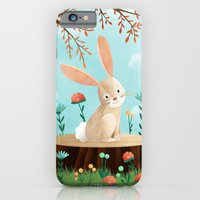 iPhone & iPod Case featuring Woodland Friends - Bunny by Stephanie Fizer Coleman