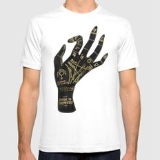 Palmistry Mens Fitted Tee White SMALL