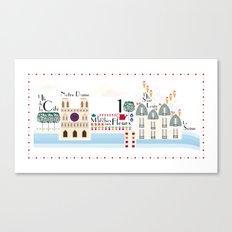 Paris _ les îles Canvas Print