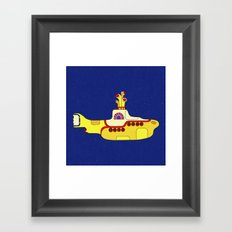 We all live in a yellow submarine Framed Art Print