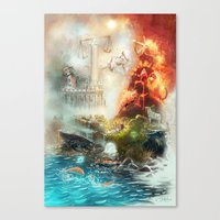 The 4 elements of the Zodiac Canvas Print