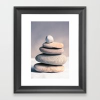 Balancing Rocks Framed Art Print