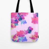 Printed Silk Rose Clouds Tote Bag