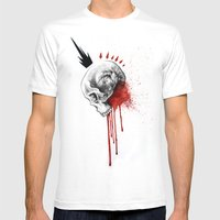 Blood Mens Fitted Tee White SMALL