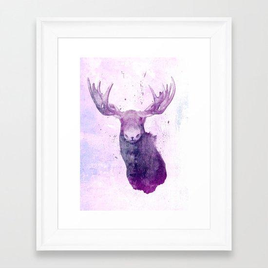Moose Springsteen Framed Art Print
