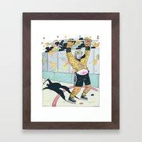 Hockey for the Rest of Us! Framed Art Print