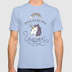 Bitch Please, I'm a Unicorn Mens Fitted Tee Tri-Blue SMALL