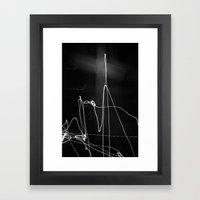 Fade Cross Framed Art Print