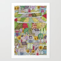 neighborhood garden Art Print