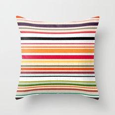 apartment stripe Throw Pillow