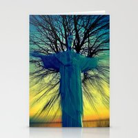 jesus Stationery Cards featuring jesus by  Agostino Lo Coco