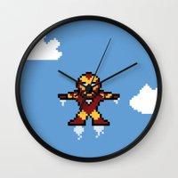 Iron Pixel Wall Clock