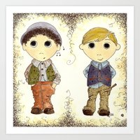 The Twins: Hugo & Harry Art Print
