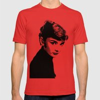 Audrey Hepburn Black And… Mens Fitted Tee Red SMALL