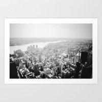 New York City - Fog Art Print