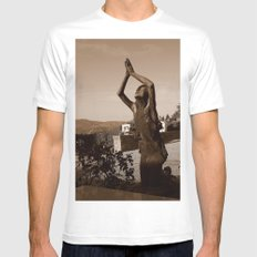 Lifted High White SMALL Mens Fitted Tee