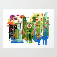 Royals (Land) Art Print