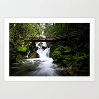 Mountain Falls Art Print