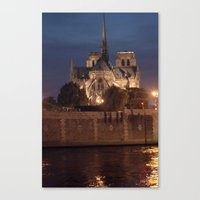 Paris by Night: Notre Dame Canvas Print