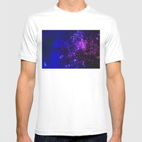 Mysterious Galaxy Mens Fitted Tee White SMALL