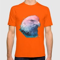 EAGLE Mens Fitted Tee Orange SMALL