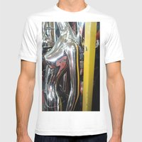 SILVER NUDE Mens Fitted Tee White SMALL
