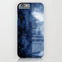 blue abstract with raindrops iPhone 6 Slim Case