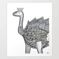 Dino Ostrich Art Print