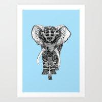 PETITE ELEPHANT. Art Print