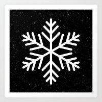 Snow Flakes Art Print