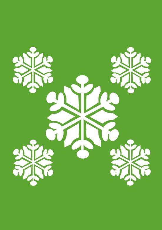 Green Snowflakes Art Print