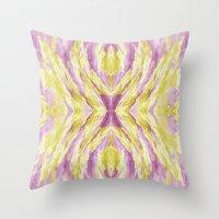 Pastel iKat Throw Pillow