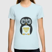 Penguin  Womens Fitted Tee Light Blue SMALL