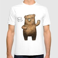The Little Bear Mens Fitted Tee White SMALL