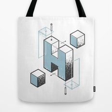 The Exploded Alphabet / H Tote Bag