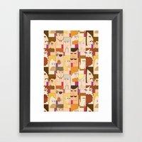 Men With Beards Framed Art Print